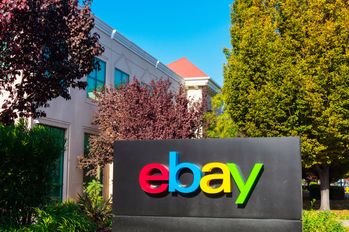 eBay sign at its corporate offices
