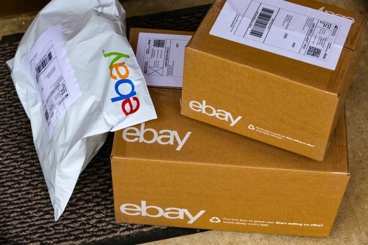 eBay parcels delivered to front door