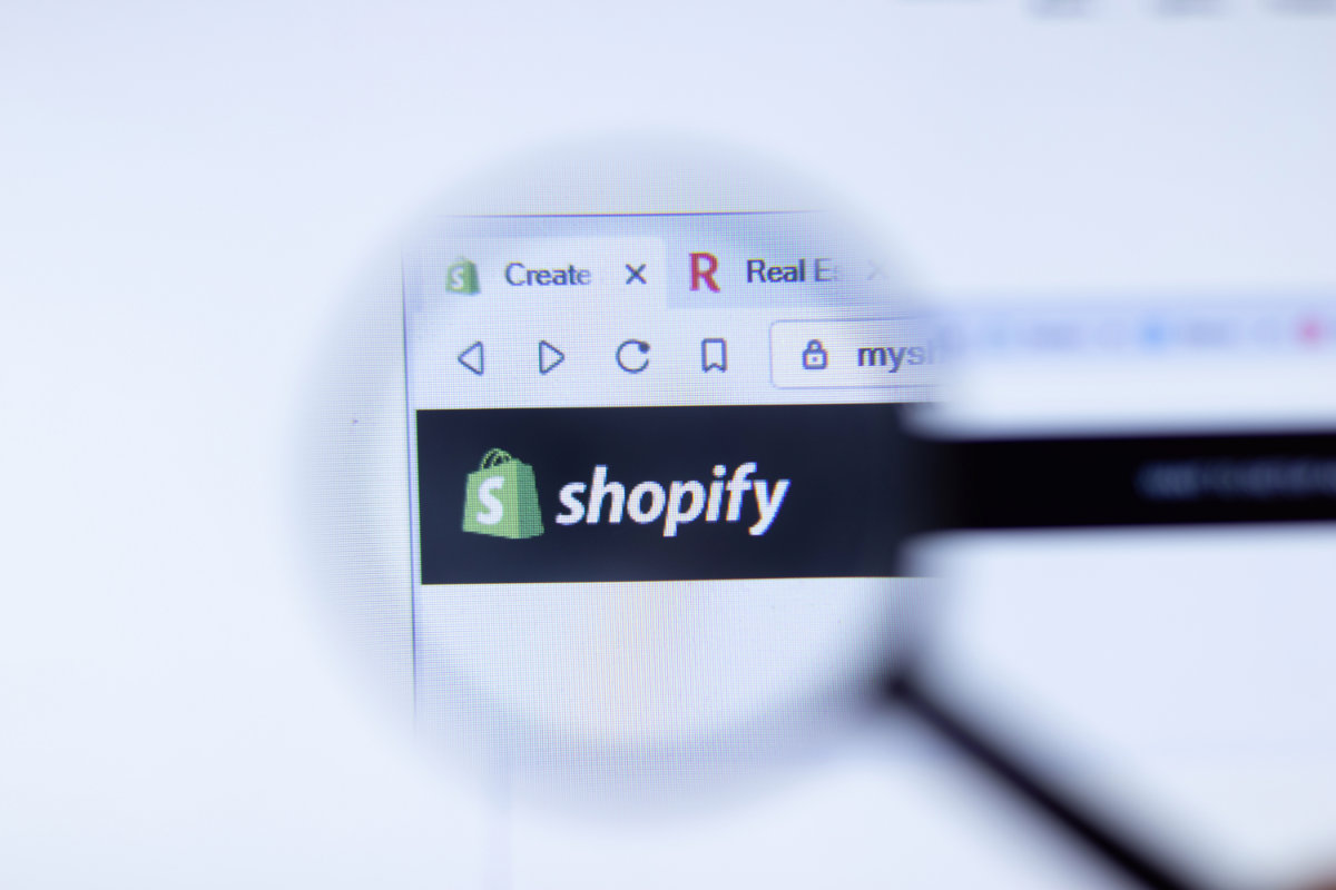 Shopify logo on company website