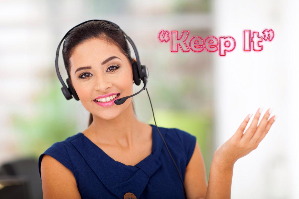 Customer service agent Keep It