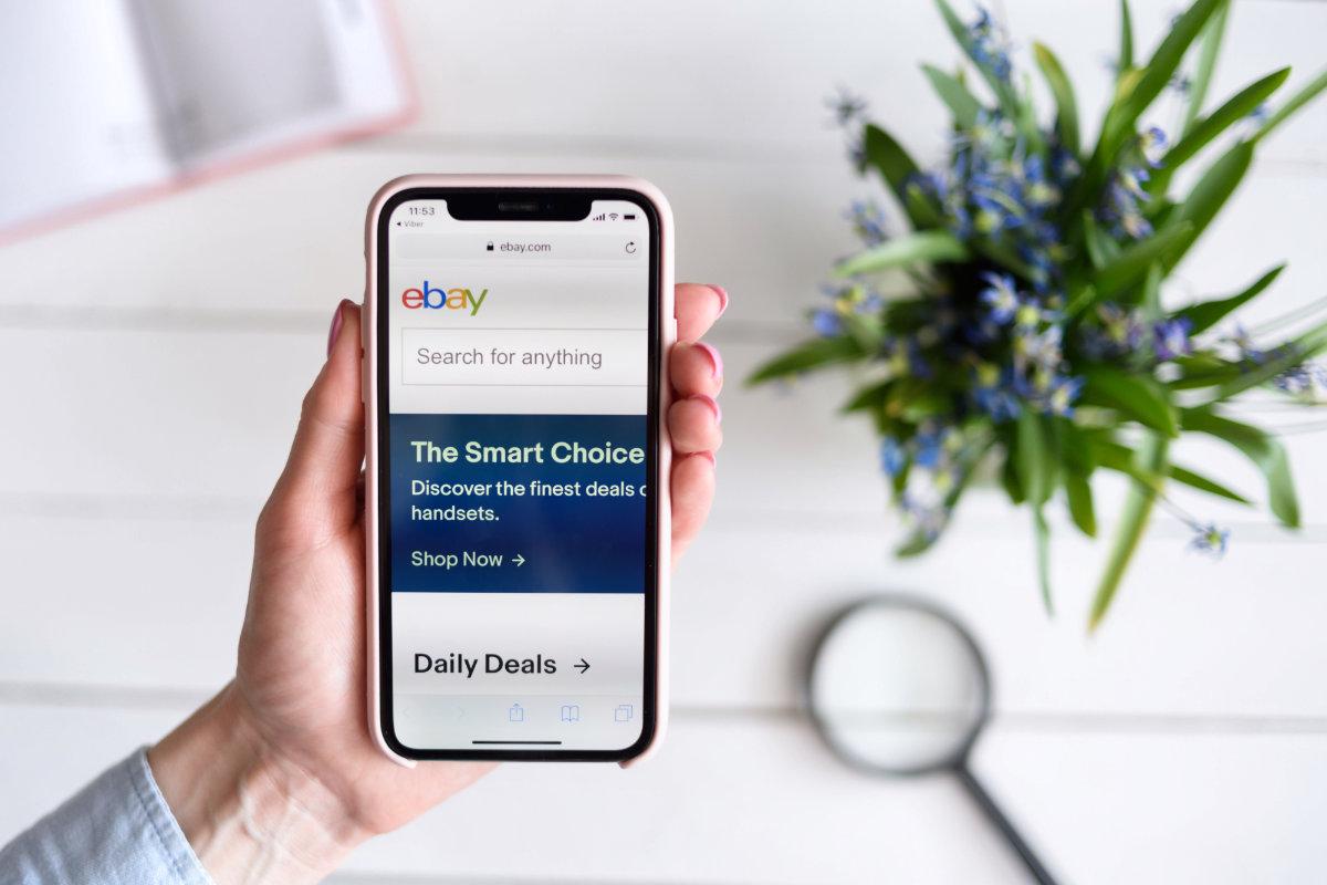 eBay search screen on smartphone