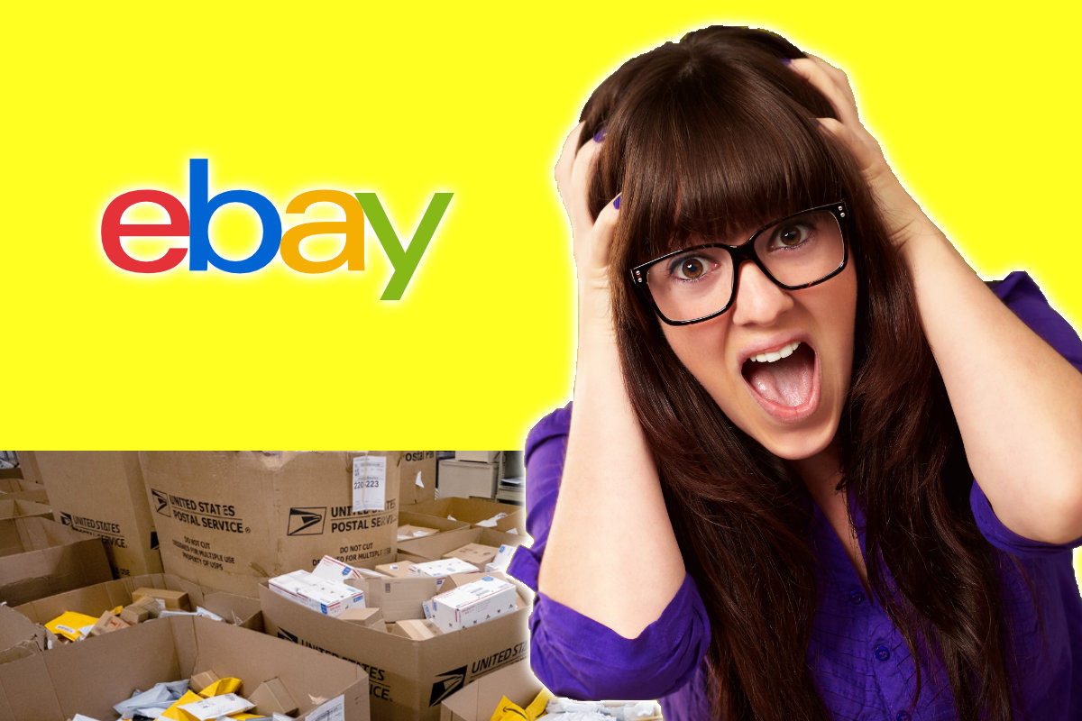 eBay USPS shipping delays frustrated woman
