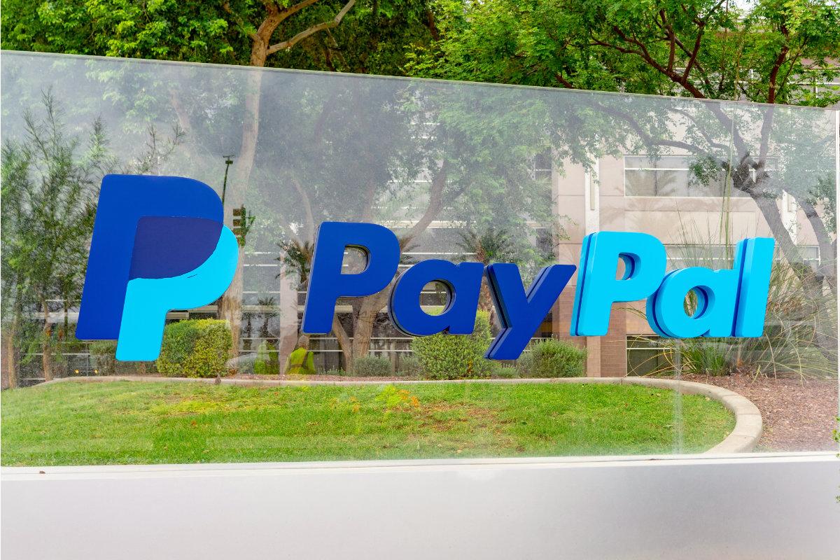 PayPal sign at Arizona office