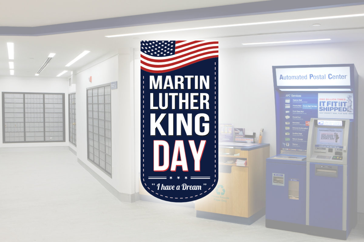 USPS Martin Luther King Jr Birthday