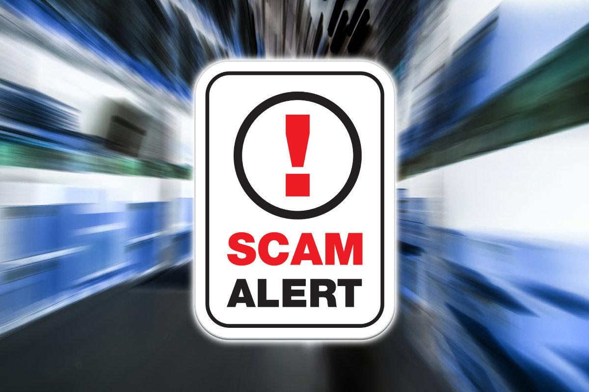 Scam alert shipping