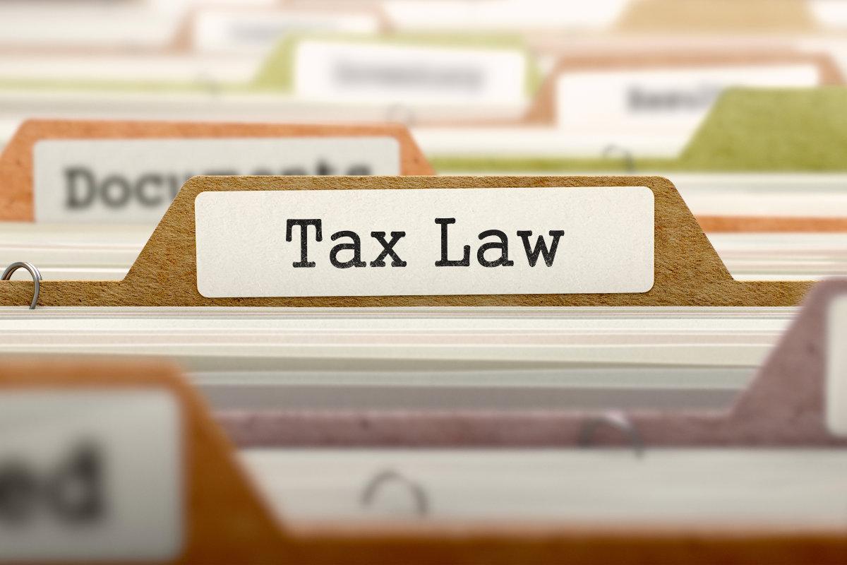Tax law folder