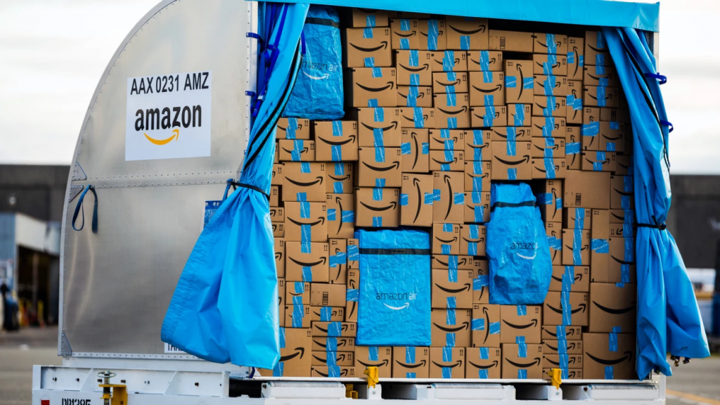 Amazon Air Prime Boxes in Unit Load Devices (ULDs)
