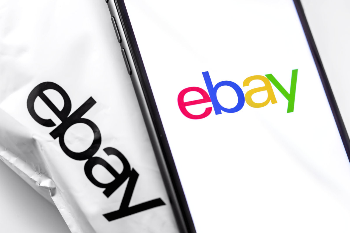 eBay Shipping Package and Smartphone