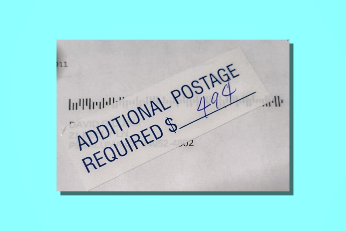 eBay Standard Envelope additional postage required