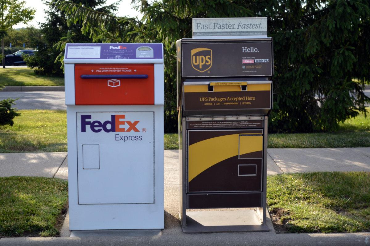 FedEx & UPS curbside drop boxes