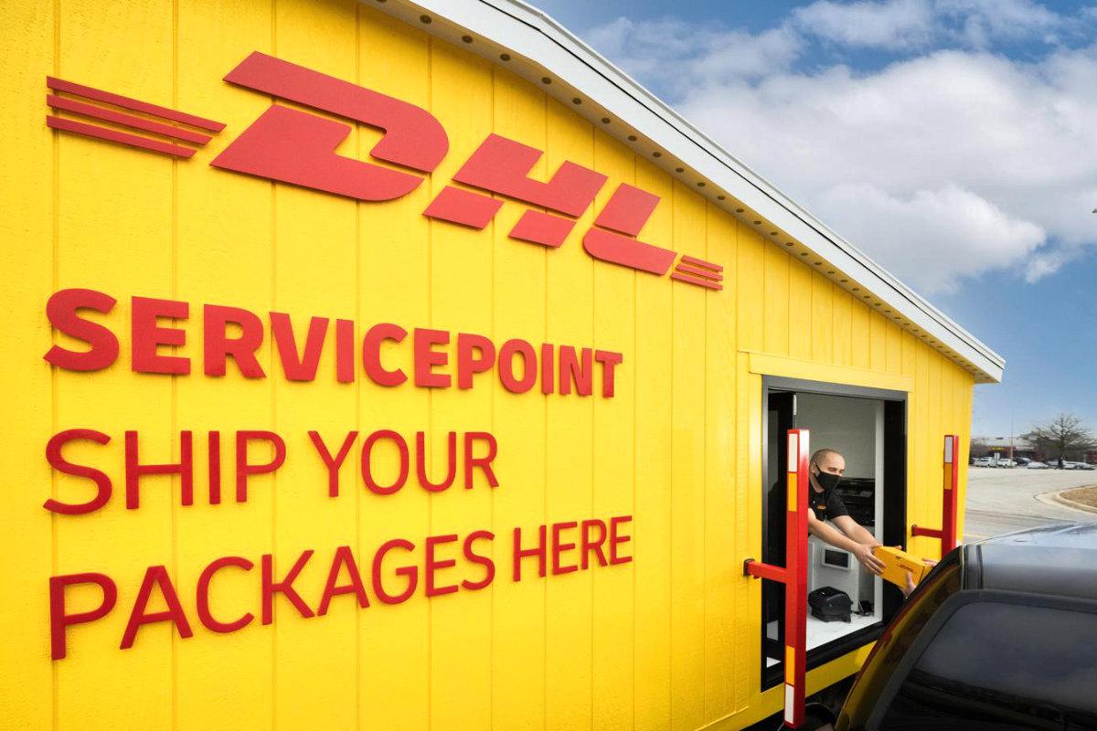 DHL Express Drive Through Pop-Up Store