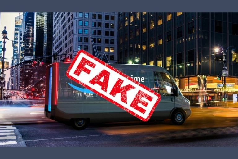 Fake Amazon Prime Delivery Van Steals Barriers in New York