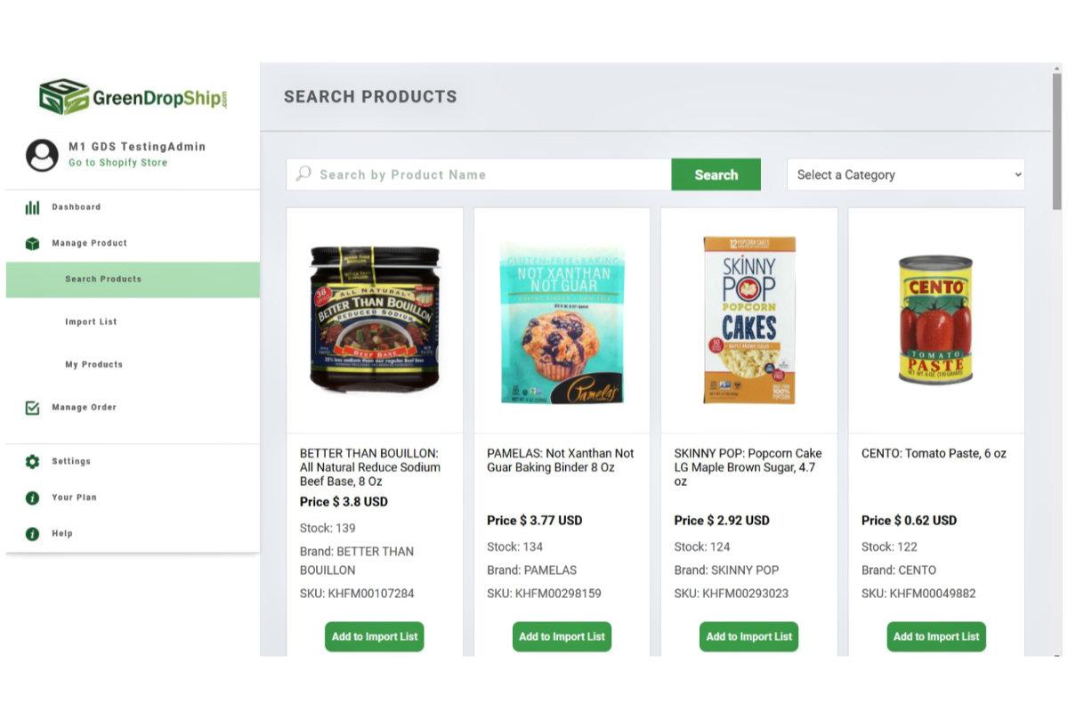 GreenDropShip app on Shopify