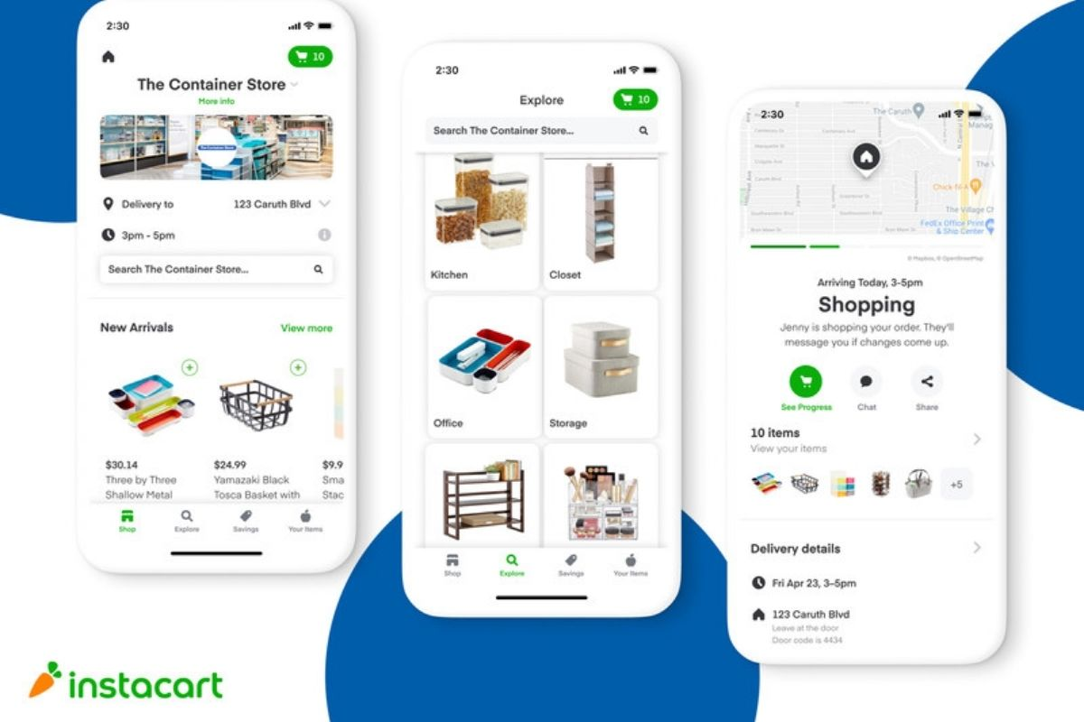 Instacart and the container store