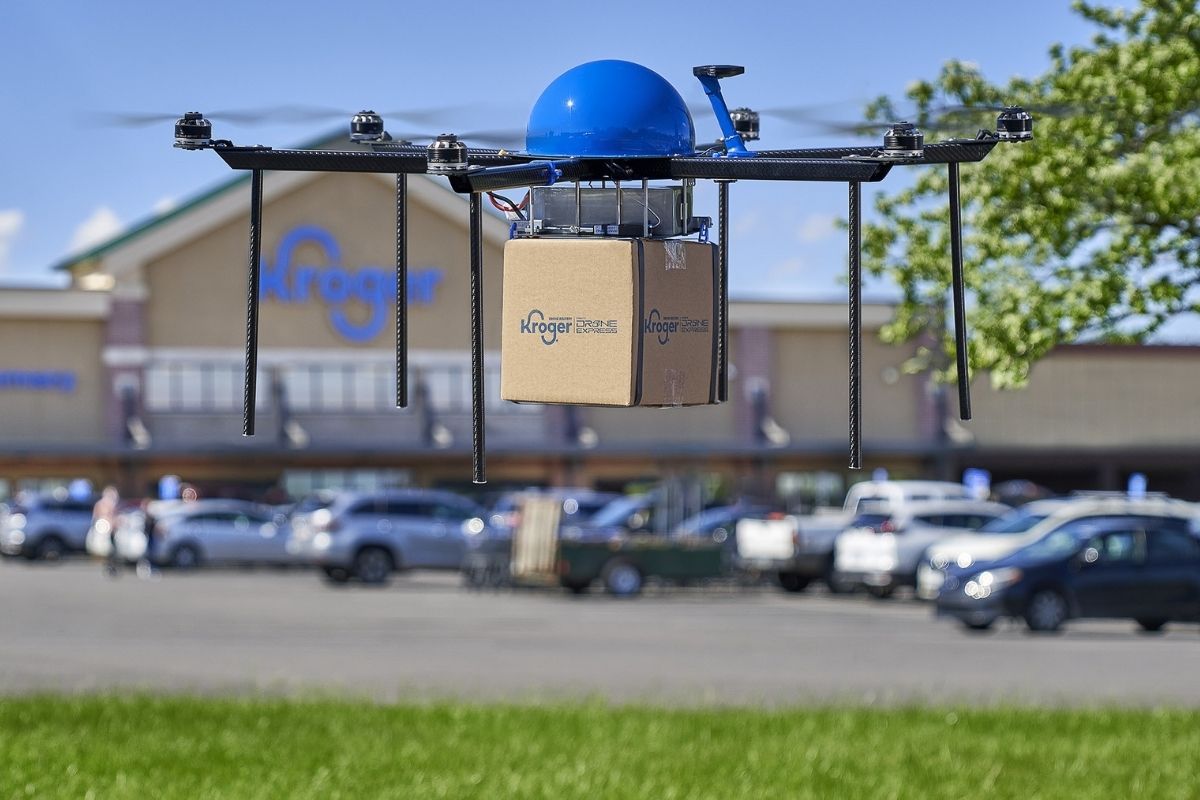 Kroger Grocery Drone Delivery