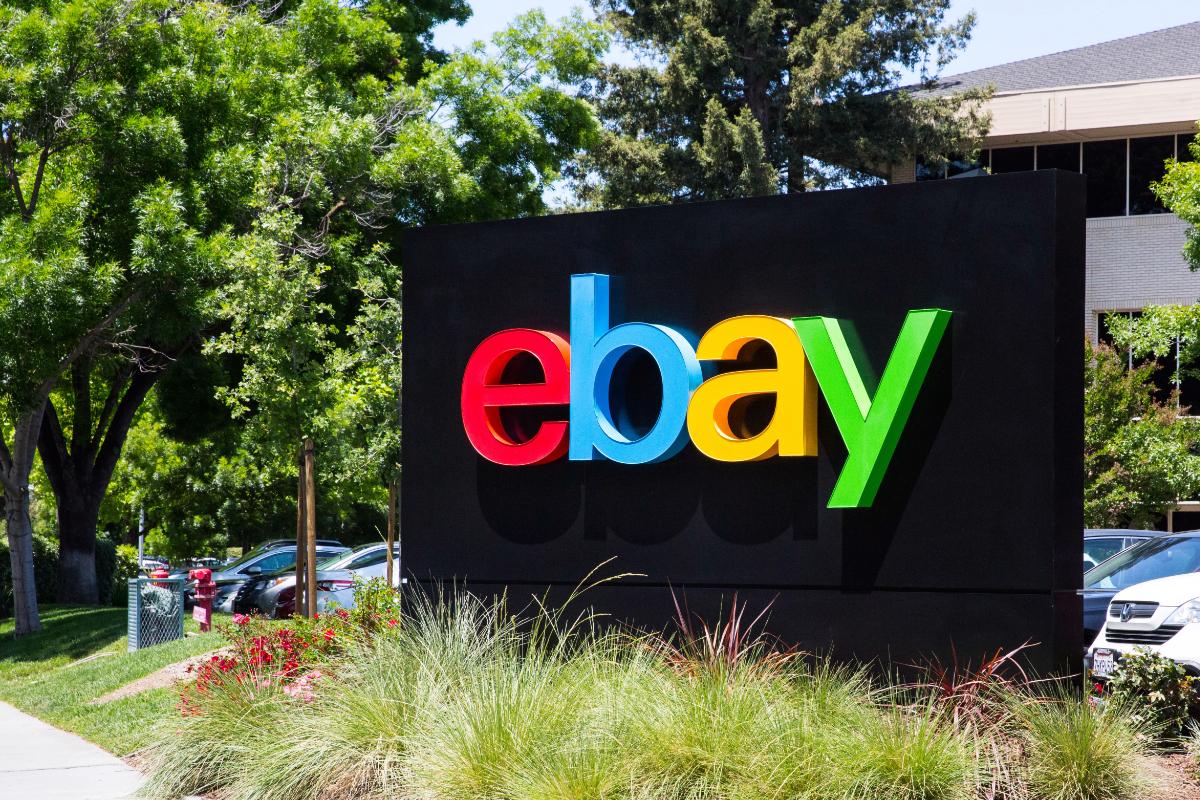 eBay sign at San Jose HQ