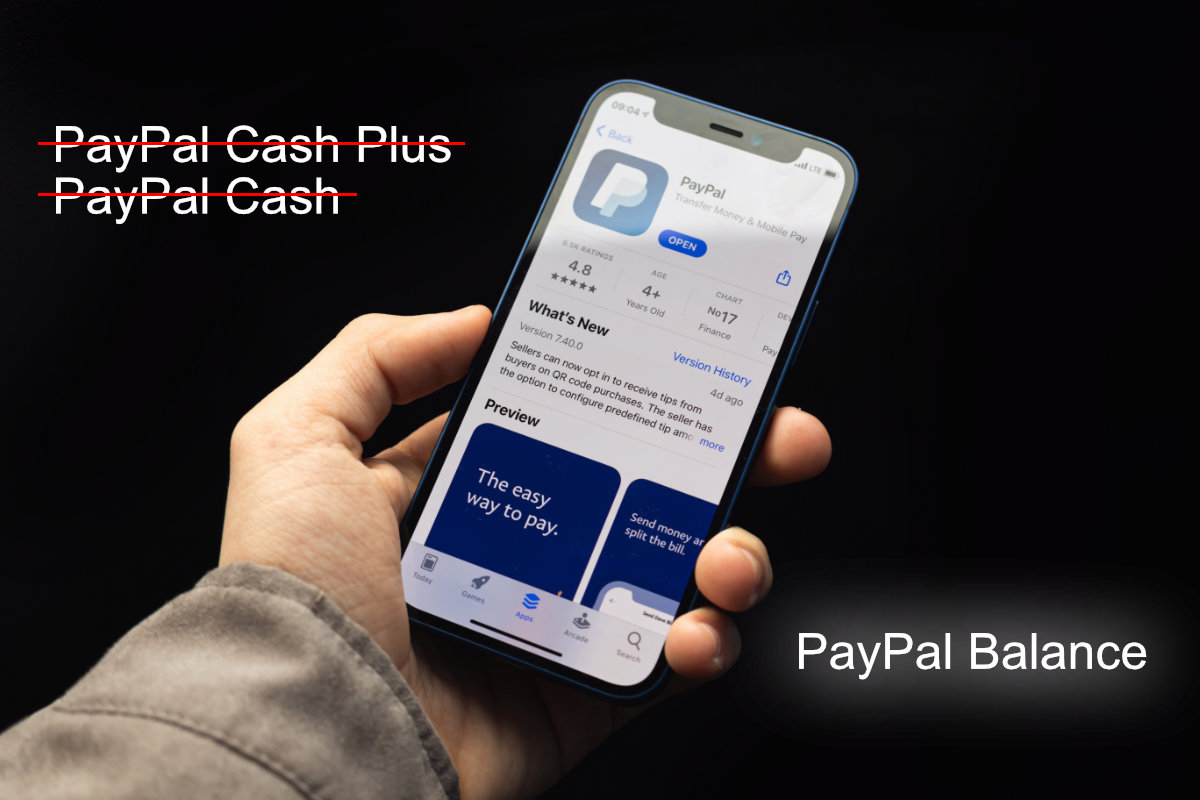 PayPal Cash accounts are now called PayPal Balance