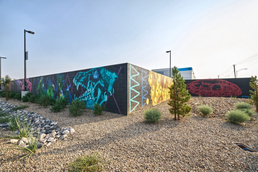 Amazon Delivery Station in Las Vegas Showing Murial